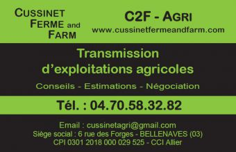 Logo CUSSINET FERME AND FARM